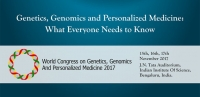 World Congress on Genomics, Genomics  and Personalized Medicine - 2017