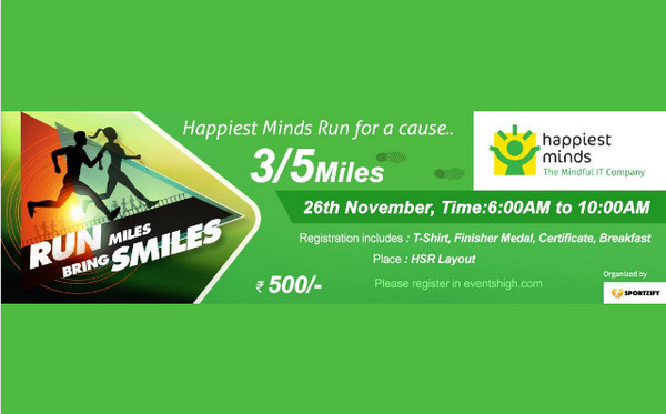 Happiest Minds Run Bangalore 26th Nov 2017, Bangalore, Karnataka, India
