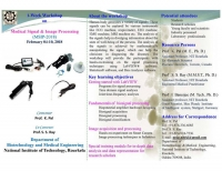 1-Week Workshop on Medical Signal & Image Processing (MSIP-2018)