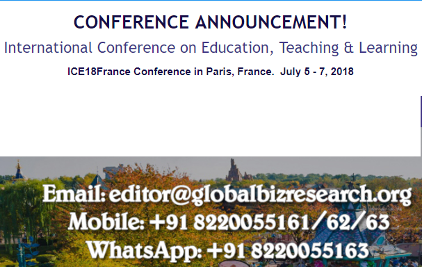 International Conference on Education, Teaching & Learning, Paris, France