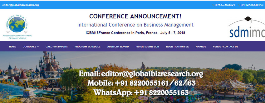 International Conference on Business Management, Paris, France