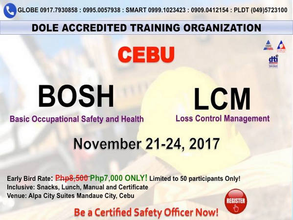 Basic Occupational Safety and Health (BOSH), Calamba City, Calabarzon, Philippines