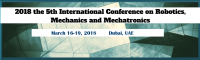 2018 the 5th International Conference on Robotics, Mechanics and Mechatronics (ICRMM 2018)