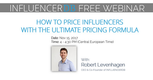 Free Webinar- How to Price Influencers with the ultimate pricing  Formula, Muenster, Nordrhein-Westfalen, Germany