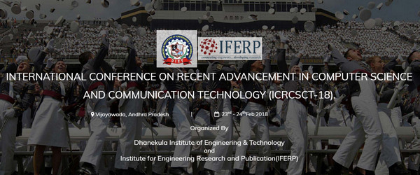 International Conference on Recent Advancement in Computer Science and Communication Technology, Chennai, Tamil Nadu, India