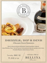 Bellina Alimentari's Drizzle, Dip, and Dine – A Balsamic Dining Experience