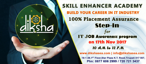 Free IT Job Awareness Program @Diksha  Skill Enhancer  Academy,