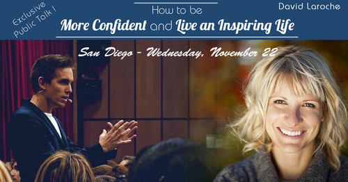 How to be more confident and live an inspiring life - Public Talk San Diego - 11/22/2017, San Diego, California, United States