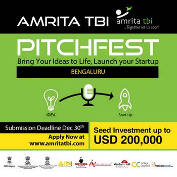 Amrita TBI PitchFest 2018, Bangalore, Karnataka, India