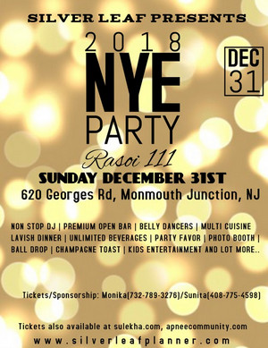 Rasoi 3 New Year Party 2018, New Jersey, United States