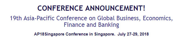 19th Asia-Pacific Conference on Global Business, Economics, Finance and Banking, Singapore