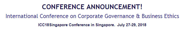 International Conference on Corporate Governance & Business Ethics, Singapore