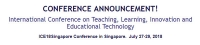 International Conference on Teaching, Learning, Innovation and Educational Technology
