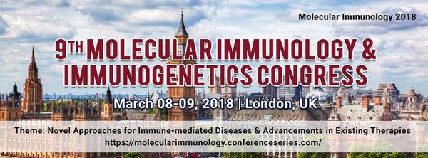 9th Molecular Immunology & Immunogenetics Congress, London, United Kingdom