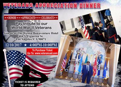 2017 World War II Veterans Appreciation Dinner, Los Angeles, California, United States