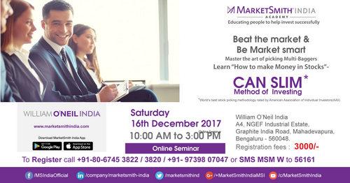 CAN SLIM Method of Investing - Seminar, Bangalore, Karnataka, India