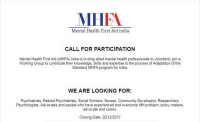 Mental Health First Aid India - Call for participation