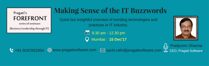 Making Sense of the IT Buzzwords Seminar, Mumbai, Maharashtra, India