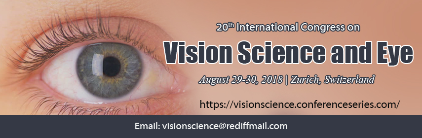 20th International Congress on Vision science and Eye, Zurich, Zürich, Switzerland