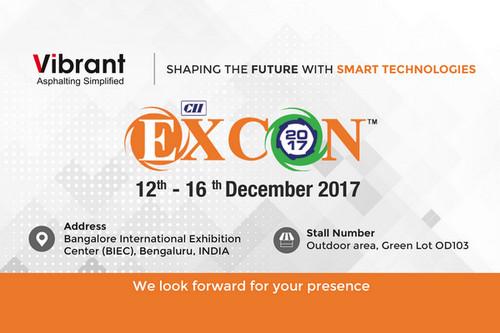 Find Vibrant Construction Equipments India Private Limited at Excon 2017 Trade Fare Bangalore., Bangalore, Karnataka, India