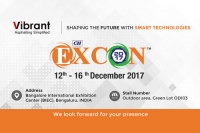 Find Vibrant Construction Equipments India Private Limited at Excon 2017 Trade Fare Bangalore.