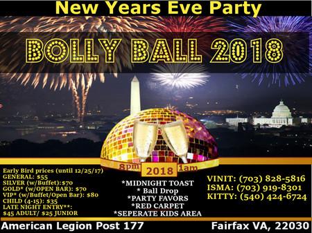 New Year's Eve Bolly Ball 2018,