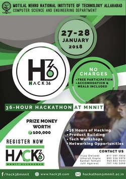 Hackathon - HACK36, Allahabad, Uttar Pradesh, India
