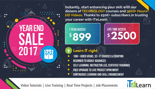 Year end sale 2017 from iTelearn, Los Angeles, California, United States