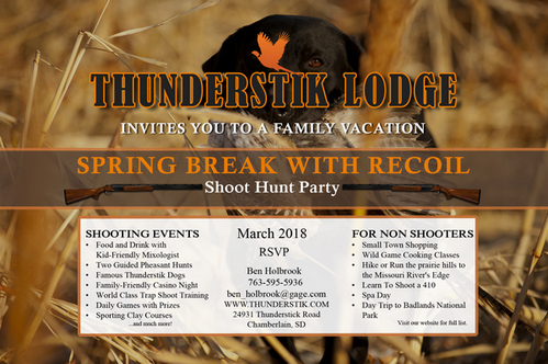 """""""Spring Break with Recoil""""  at Thunderstik Lodge - A Family Friendly Event, Chamberlain, South Dakota, United States"""