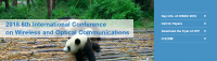 2018 6th International Conference on Wireless and Optical Communications (ICWOC 2018)