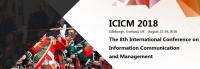 2018 The 8th International Conference on Information Communication and Management (ICICM 2018)