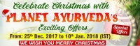 Christmas Offer for Customers of Outside India by Planet Ayurveda