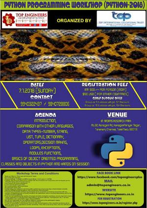 Python Programming Workshop (PYTHON-2018) | January 2018