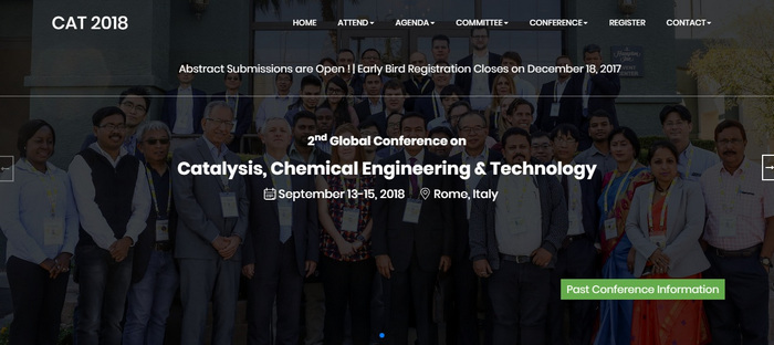 2nd Global Conference on Catalysis, Chemical Engineering and Technology, Rome, Lazio, Italy