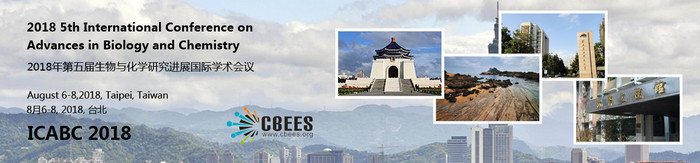 2018 5th International Conference on Advances in Biology and Chemistry (ICABC 2018), Taipei, Taiwan