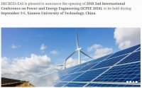 2018 2nd International Conference on Power and Energy Engineering (ICPEE 2018)