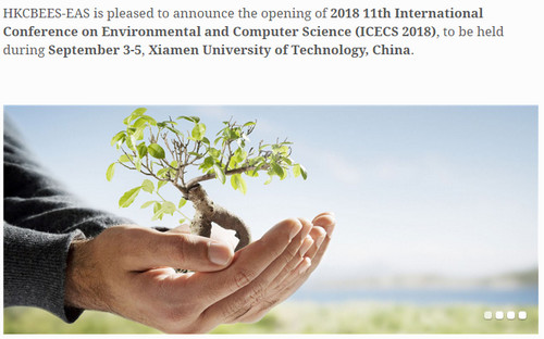 2018 11th International Conference on Environmental and Computer Science (ICECS 2018), Xiamen, Fujian, China