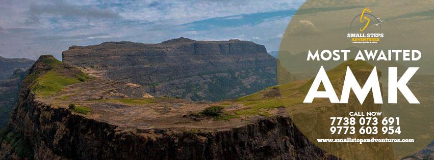 Trek To Alang Madan Kulang Fort(AMK) On 13th-14th January 2018, Nashik, Maharashtra, India