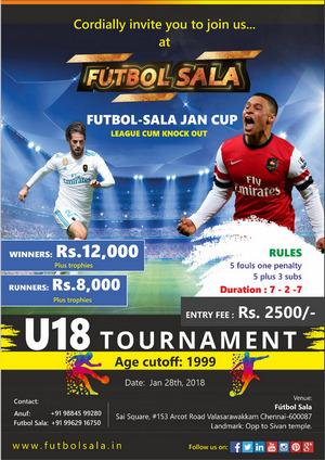 Futbol Sala U18 Tournaments, Chennai, Tamil Nadu, India