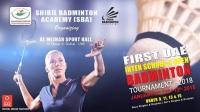 Shibil Badminton Academy 1st UAE Open Badminton Tournament 2018
