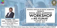 Social Media Workshop for Business on Jan 6th & 7th 2018 at NIDM Kormangala, Bangalore.