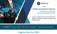Webinar on Global recruitment industry - market size, trends and growth predictions for 2018