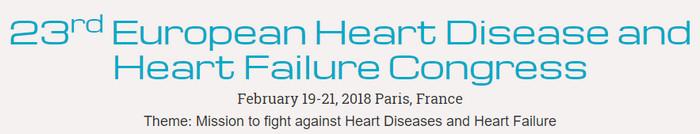 23rd European Heart Disease and Heart Failure Congress, Paris, Aberdeenshire, United Kingdom