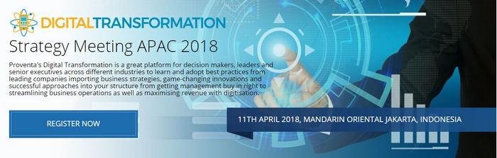Digital Transformation Strategy Meeting 2018, Central Jakarta, Jakarta, Indonesia