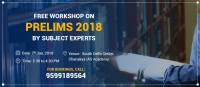 Free Workshop in Delhi on Prelims 2018 preparation