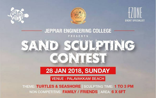 Sand Sculpting Contest 2018, Chennai, Tamil Nadu, India
