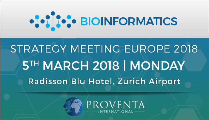 Bioinformatics Strategy Meeting Europe 2018, Rondellstrasse, Zürich, Switzerland