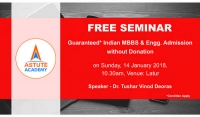 Seminar on Guaranteed MBBS / Engineering admissions without Donation