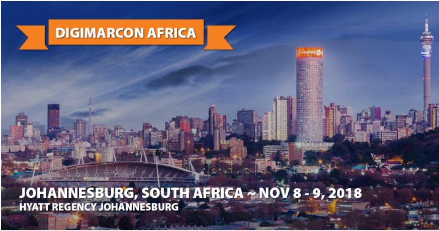 DigiMarCon Africa 2018 - Digital Marketing Conference, Johannesburg, Gauteng, South Africa