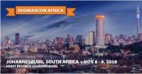 DigiMarCon Africa 2018 - Digital Marketing Conference